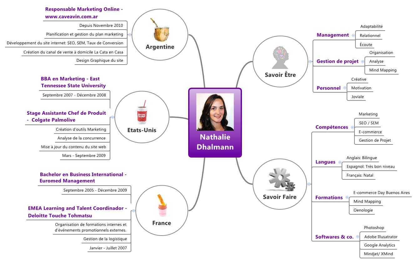 mind mapping et curriculum vitae  cv
